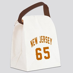 New Jersey 65 Birthday Designs Canvas Lunch Bag