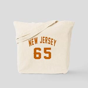 New Jersey 65 Birthday Designs Tote Bag