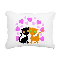 Kitty Cat Love Rectangular Canvas Pillow