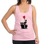 cat and rose redone Racerback Tank Top