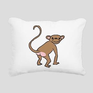 monkey-cheeky Rectangular Canvas Pillow