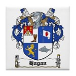 Hagan Coat of Arms Tile Coaster