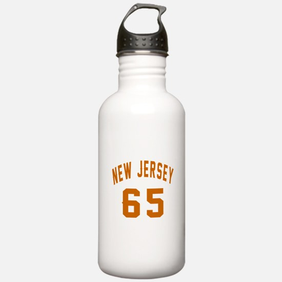 New Jersey 65 Birthday Water Bottle