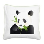 Panda Bear Square Canvas Pillow