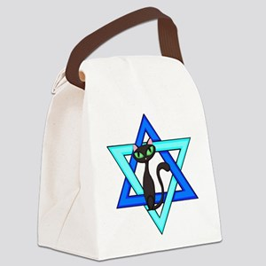 Jewish Cat Stars Canvas Lunch Bag