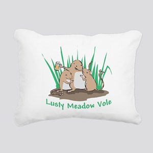 Lusty Meadow Vole Rectangular Canvas Pillow