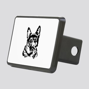 GERMAN SHEPHERD HEAD Rectangular Hitch Cover