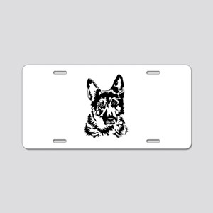 GERMAN SHEPHERD HEAD Aluminum License Plate