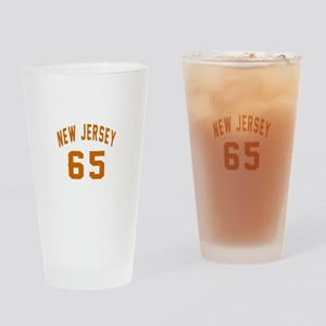 New Jersey 65 Birthday Designs Drinking Glass