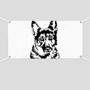 GERMAN SHEPHERD HEAD Banner