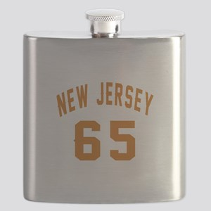 New Jersey 65 Birthday Designs Flask