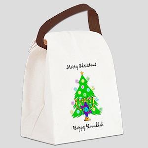 Hanukkah and Christmas Interfaith Canvas Lunch Bag