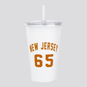 New Jersey 65 Birthday Acrylic Double-wall Tumbler