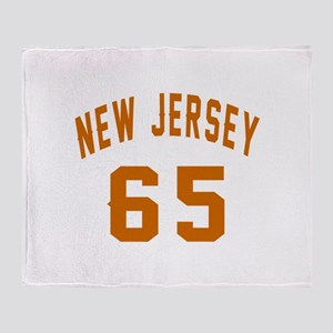 New Jersey 65 Birthday Designs Throw Blanket