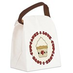 I Love Cupcakes Canvas Lunch Bag