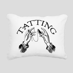 tatting_bl Rectangular Canvas Pillow
