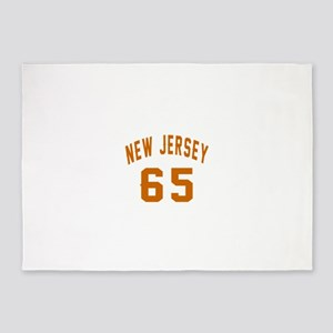 New Jersey 65 Birthday Designs 5'x7'Area Rug