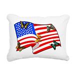 american butterflys Rectangular Canvas Pillow