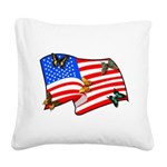 american butterflys Square Canvas Pillow