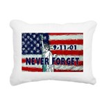 911 Never Forget Rectangular Canvas Pillow