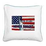911 Never Forget Square Canvas Pillow
