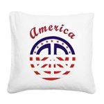 american peace Square Canvas Pillow