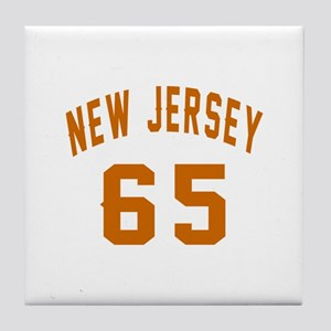 New Jersey 65 Birthday Designs Tile Coaster