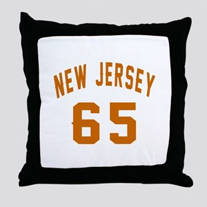New Jersey 65 Birthday Designs Throw Pillow