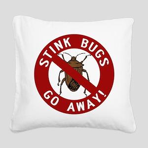 stink bug-go-away Square Canvas Pillow