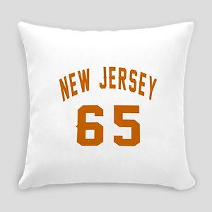 New Jersey 65 Birthday Designs Everyday Pillow