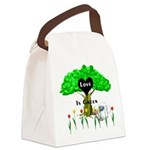 love is green Canvas Lunch Bag