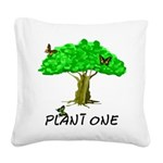 plant one2 Square Canvas Pillow