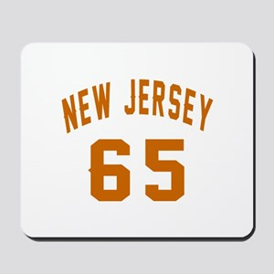 New Jersey 65 Birthday Designs Mousepad