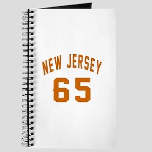 New Jersey 65 Birthday Designs Journal
