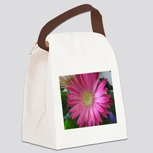Pink Daisy Princess Canvas Lunch Bag
