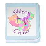 Shiyan China Map baby blanket