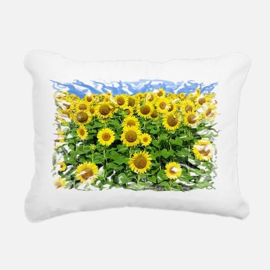 Sunflowers Rectangular Canvas Pillow