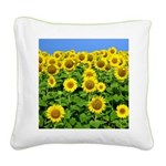 Sunflowers Square Canvas Pillow