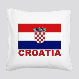 croatia_b Square Canvas Pillow