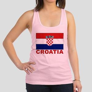 croatia_b Racerback Tank Top
