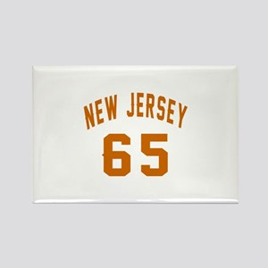 New Jersey 65 Birthday Designs Rectangle Magnet