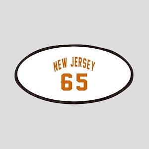 New Jersey 65 Birthday Designs Patch