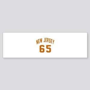 New Jersey 65 Birthday Designs Sticker (Bumper)