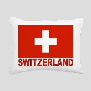 swiss-flag Rectangular Canvas Pillow
