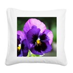 pansy mousepad Square Canvas Pillow