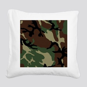 Camouflage Pattern Square Canvas Pillow