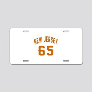 New Jersey 65 Birthday Desi Aluminum License Plate