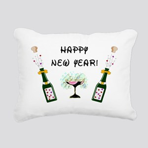Happy New Year Rectangular Canvas Pillow