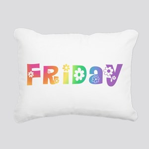 dotw-pastel-monday Rectangular Canvas Pillow