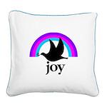 Doves Of Joy Square Canvas Pillow